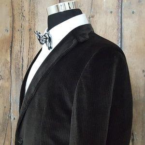 Hugo Boss Sport Coat Mens 42R Cotton Blend Brown